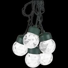 LightShow Outdoor Projection 8-Light White Round Light String with Clips, hd2