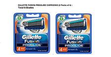 Gillette Flexball Fusion ProGlide Razor Manual Shaving Blades - 8 Cartridges New