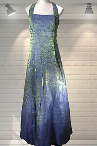 Vintage 90s JOSEPH RIBKOFF Empire Line Party Cocktail Two Tone Ball Dress Gown