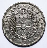 1935 New Zealand Half 1/2 Crown - George V - Lot 339