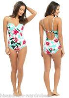 Ladies Womens Tom Franks Floral Print Swim Suit Swimming Costume Beachwear New