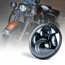 "Xprite 40W 5.75"" Black Round LED Headlights Projector Harley Davidson Motorcycle"