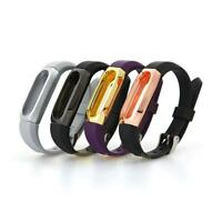 Replacement Wrist Band Strap W/ Metal Frame For Xiaomi Mi Bands 2 Smart Bracelet
