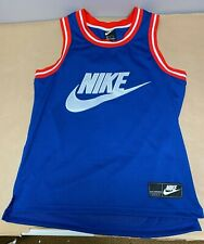 Nike Statement Mesh Tank Jersey Blue/White/Red Ar9892-438 - Mens Size Large