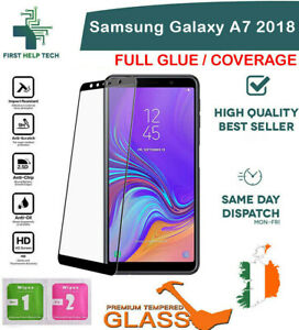 Samsung Galaxy A7 2018 Tempered Glass 9D Curved Screen Protector Full Coverage