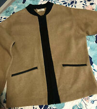 Mint Vtg Mens Lord Jeff Mod Zip Front Sweater Cardigan 60s Camel  Beatles S M