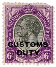 (I.B) South Africa Revenue : Customs Duty 6d (1913)