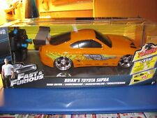 Jada Toys Fast and Furious 1:24 Radio Control Car, Brian's Toyota Supra RC New