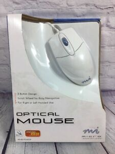 MI Optical Mouse Windows Vista Compatible PS/2 Model PD430P Wired New in Box