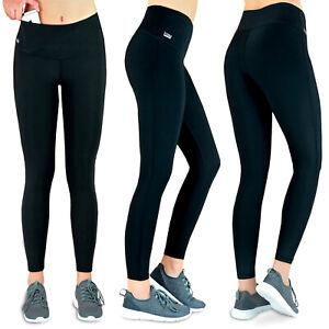 Formbelt Laufhose Damen lang, Lauftights, Leggings mit Tasche für Handy Schwarz