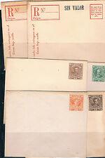 Chile. Conjunto de 6 Sobre Enteros Postales
