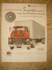 NOS 1957 1958 IHC International Truck Sightliner Cab Over Engine Sales Brochure