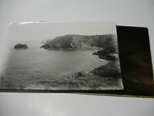 Lot36 - 1890s VICTORIAN COASTAL SCENE North Wales? Glass Negative & Photo