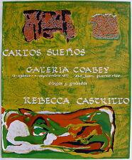 Carlos Suenos Signed Rebeca Castillo Cartel Poster Serigraph Puerto Rico 1977