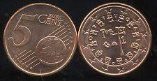 PORTUGAL      5 cent  2002  SPL  neuve  ( sortie du rouleau )