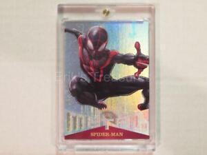 2017 Fleer Ultra Spider-Man Miles Morales Metal EPack Achievement Card MM50 NM-M