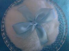 Luxurious 6 inch Body Powder Puff w/ open glass dish