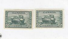 CANADA (MK6078) # 258  VF-MH  13cts 2 1942 RAM TANK, CANADIAN ARMY /GREEN CV $16
