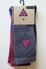 NIKE ACG ALL CONDITIONS GEAR CREW SOCKS 2PACK - SK0156-956 UK9-10.5 EUR44-45.5