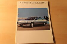 00450) Renault R 21 Nevada Prospekt 08/1989