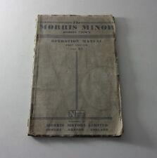 Owner ´S Manual / Manual Morris Minor Mm de 12/1948