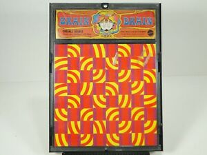 Vintage 1969 BRAIN DRAIN - CHECKLE HECKLE, Psychedelic Puzzle, MATTEL, w/ frame