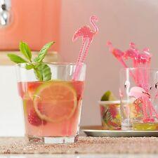 Rosa Flamingo Cóctel Bebida agitadores Tropical Hawaiano Bbq Fiesta Boda Gallina