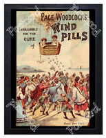 Historic Page Woodcock's Wind Pills, c.1880 Advertising Postcard