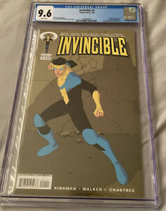 Invincible 1 cgc 9.6 First Print plus Skybound figures