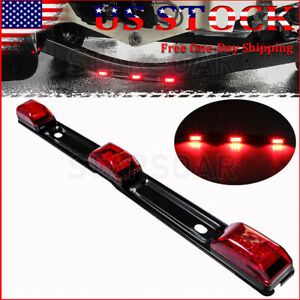 """15"""" Stainless Red LED ID Bar Light Truck Boat Trailer Marker Clearance Lights"""