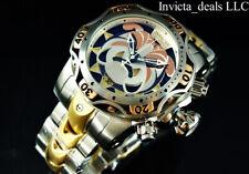 Invicta Mens Reserve 52mm Venom Gen III BULLDOG SWISS Chrono Gold Two Tone Watch