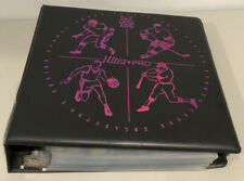 """ULTRA PRO TOP DOG 3"""" RING BINDER W/ 91 9 CARD PAGES SPORTS POKEMON STICKERS USED"""