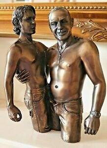 Gay Boys Cold Cast Bronze Erotic Sculpture, Figurines, Men, by Oliver Tupton