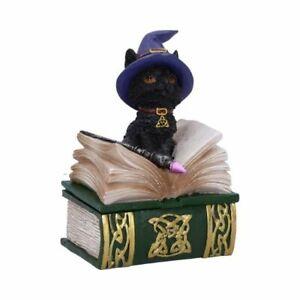 BINX 11cm Witches Cat Feline Occult Figurine Trinket Box Nemesis Now - FREE P+P