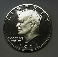 Beautiful 1971-S Proof 40% Silver Eisenhower Ike Dollar Flashy Gem   DUTCH