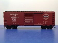 "HO Scale ""Atlantic & Danville"" A&D 2005 40 Foot Freight Train Box Car"