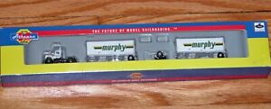 ATHEARN 13879 N MACK R TRUCK WITH 28' TRAILERS MURPHY