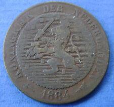 1884 Nederland - The Netherlands 2 1/2 cent, 2,5 cent Willem 3 KM# 108