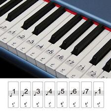 Elektronisch Klavier Aufkleber Für 88 Key Keyboards – Transparent Und Abnehmba