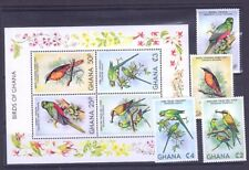 """GHANA STAMPS M/S BLOCK STAMPS +STAMPS ,""""BIRDS OF GHANA"""" **MNH"""