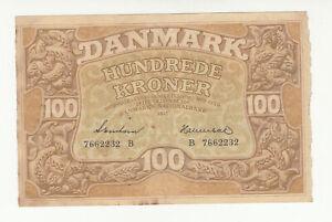 Denmark 100 kroner 1943 circ. @ low start