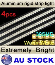 4X 12V 30 LED 5050 SMD Aluminum Rigid Strip Light Warm White Waterproof AU Stock