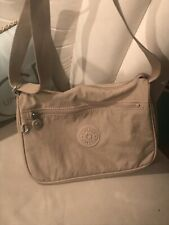Kipling Shoulder Crossbody Bag Silver Beige