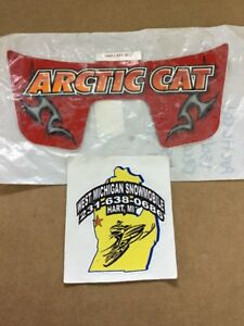 Arctic Cat Rear Red Graphic Decal P/N 0411-922 NOS 2005 50 90 Youth