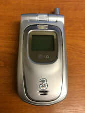 LG U8120 Silver Grey Vintage Mobile Phone Three EE Collectable Retro Battery