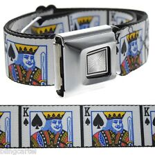 King Of Spades Playing Cards Poker Texas Hold'em Seat Belt Seatbelt Buckle-Down