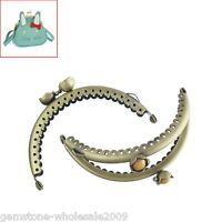 Wholesale Lots W09 Metal Bronze Frame Kiss Clasp Arch For Purse Bag 7.7x 5.4cm