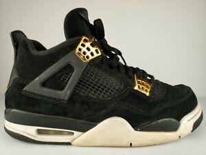 Nike Air Jordan Retro IV Royalty 4 Black Suede Metallic Gold 308497-032 Size 8.5