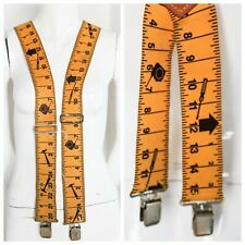 Yellow Measuring Tape Novelty Print Suspenders | Sequoia Construction Suspenders