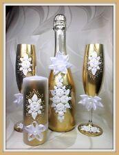 Sekt Hochzeitsgläser  Geschenkidee Geschenk Gold